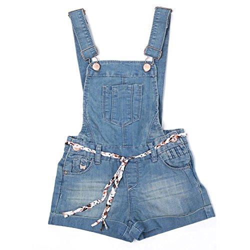 Dolcevida Girls Cotton Denim Jumpsuit Adjustable Overall Shorts Shortalls