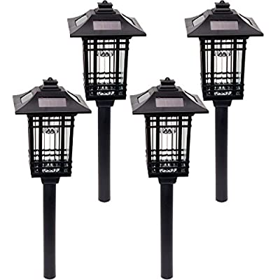 GreenLighting 4 Pack Sydney Path Lights - Solar Powered LED Pathway Lights
