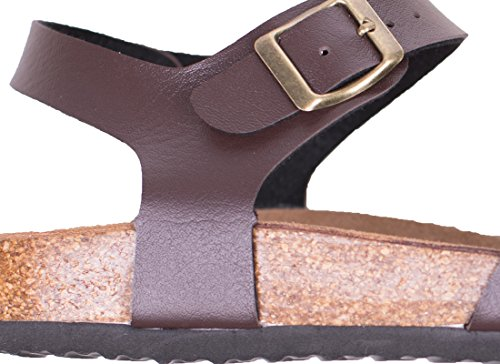 Pictures of Women's Flat Cork Sandals with Adjustable 4