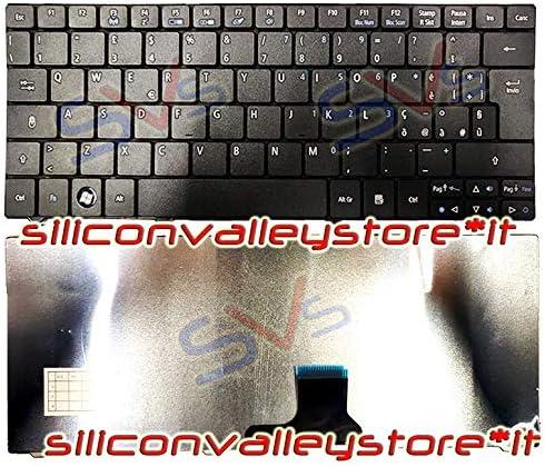 Siliconvalleystore Tastiera Italiana per Notebook Acer Keyboard Aspire One 751 752 ZA3 Nera