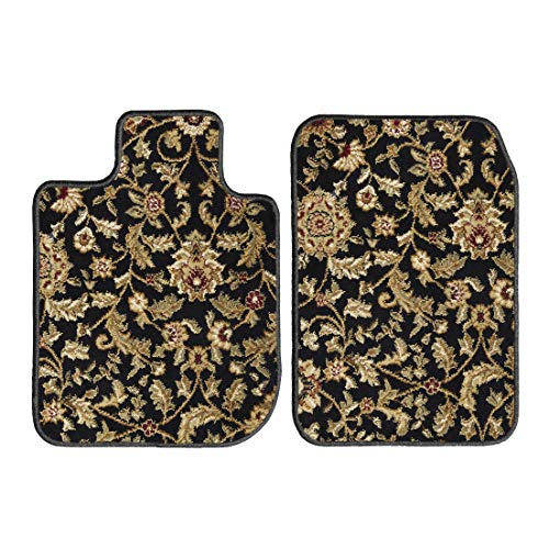 GGBAILEY D2423A-F1A-BK-OR Custom Fit Car Mats for 2005, 2006, 2007 Chrysler Town and Country Black Oriental Driver & Passenger Floor