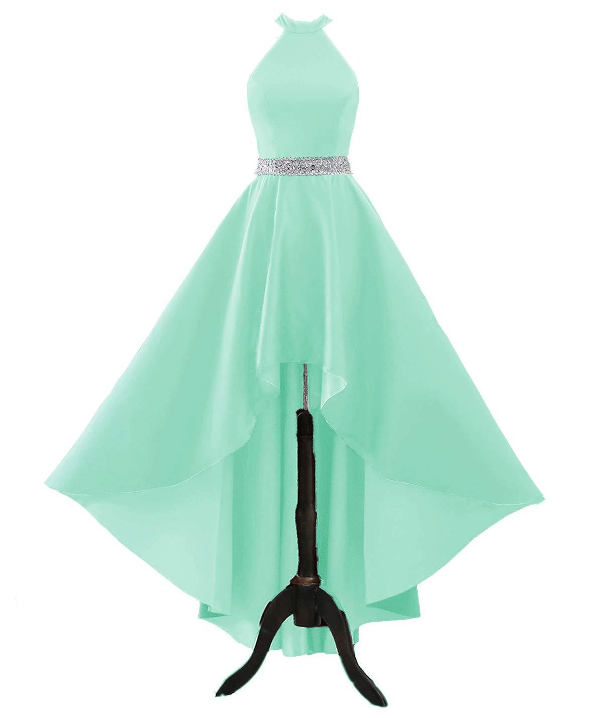 Halter Prom Dresses Long Beaded Evening