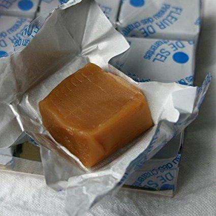 Paris Caramels - 17% Charentes-Poitou French Butter - Fleur de Sel Salt Caramels Gift Box - 12.0 oz