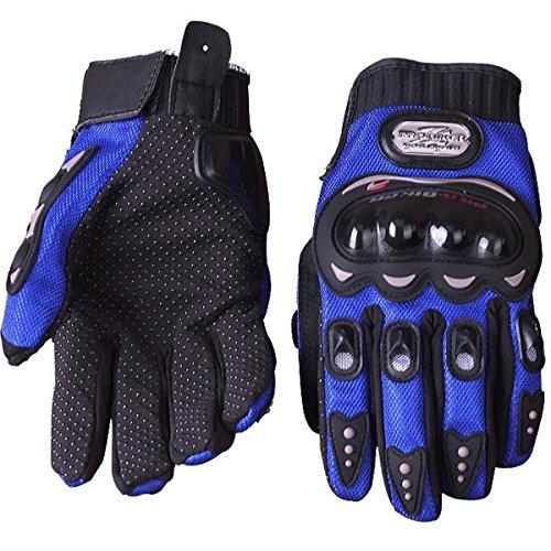New Brand Full Finger Safety Bike Motorcycle Racing Gloves for Pro-biker MCS-01B (XXL,Blue)