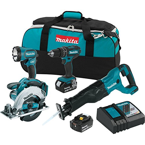 Makita XT442 18V LXT 3.0 Ah Lithium-Ion Cordless Combo Kit (4 Piece)