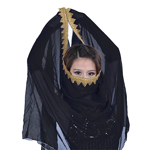[ESHOO Women Girls Chiffon Belly Dance Head Shawl Scarf Lady Dance Costume Headpiece] (Gypsy Costume Head Scarf)