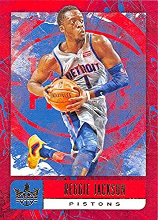 reputable site 07b06 89491 2018-19 Court Kings Basketball  16 Reggie Jackson Detroit Pistons Official  NBA Trading Card