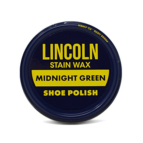 Lincoln Stain Wax Shoe Polish Color (Midnight Green) 2 1/8 Oz