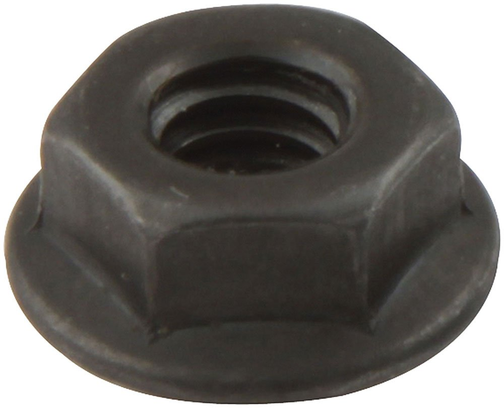 Allstar Performance ALL18555 Black Spin Lock Nut, (Set of 10) by Allstar (Image #1)