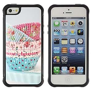 """Pulsar iFace Series Tpu silicona Carcasa Funda Case para Apple iPhone SE / iPhone 5 / iPhone 5S , Cocinero de la magdalena de cocina pasteles Lunares"""""""