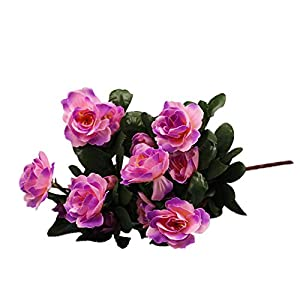 KNDDY Artificial Flowers Rhododendron for DIY Wedding Bouquets Centerpieces Party Home Decorations 42