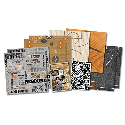 - Karen Foster Scrapbook Page Kit, 12 by 12-Inch, Basketball Champ