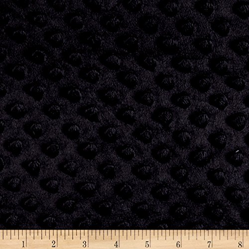Shannon Fabrics Minky Plush Dot Black Fabric by The Yard