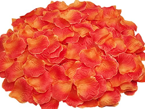 Ocharzy 1000pcs Silk Rose Petals Wedding Flower Decoration