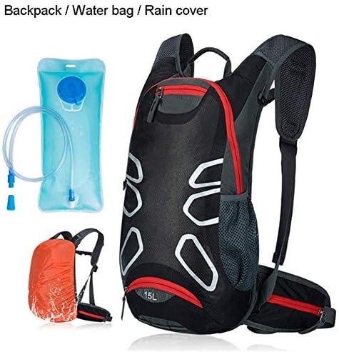 BAJIMI アウトドアハイキングキャンプ旅行自転車バッグショルダー超軽量スポーツ乗馬水分補給18Lバイクバッグ/ブラックBのためのバックパック