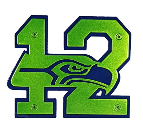 Seattle Seahawks 12 Custom Hitch Cover (Back: Blue / Front: Green)