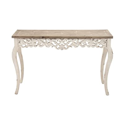 Deco 79 56564 Wood Carved Console Table, ...
