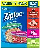 Ziploc Variety Pack, 347 Bags