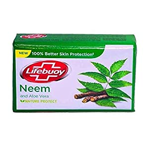 Lifebuoy Neem and Aloe Vera 100% Better Skin Protection Soap Bar 125 g [Pack of 6]