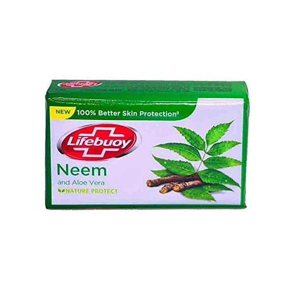 Lifebuoy Neem and Aloe Vera 100% Better Skin Protection Soap Bar 125 g [Pack of 6] 2021 June B07BDNGCXM Units/case:126, Units/bundle:6, Number_of_Items: 1