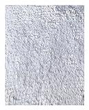 Mohawk Home Cut to Fit Ribbon Saxony Plush Bath Carpet, White, 6 by 8 Feet