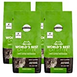 World's Best Cat Litter 28 lbs Easy Scooping, Odor Control Clumping Formula, 4 Pack