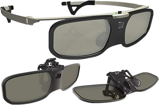 Mouwa Gafas 3D para TV, Obturador Activo Gafas Recargables para ...