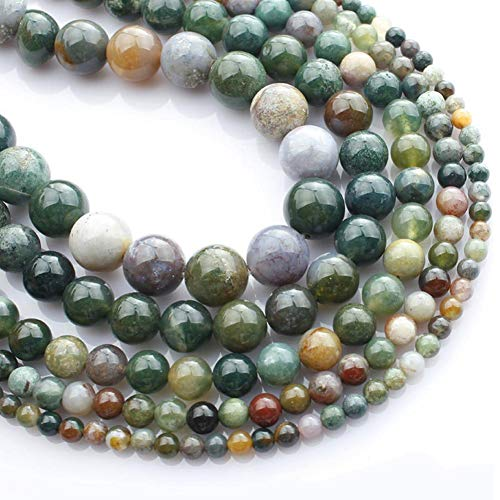 - Febelle Natural India Agate Gemstone Loose Beads for DIY Jewelry Making and Crafting10mm