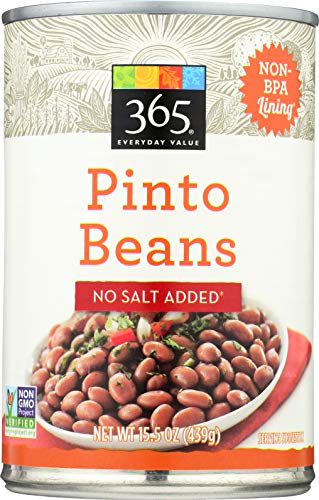 365 Everyday Value, Pinto Beans, No Salt Added, 15.5 oz - Low Fat Organic Kidney Beans