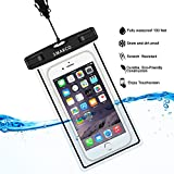 camper iphone 5c case - SMARCO Universal Night Fluorescence Waterproof Bag for Iphone 6/6 plus,Samsung Galaxy S6, S5,S4,S3,HTC,Sony,Nokia,keeps your Cell Phone from Water,Sand,Dust and Dirt-IPX8 Certified to 100Feet(Black)