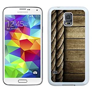 NEW Unique Custom Designed Samsung Galaxy S5 I9600 G900a G900v G900p G900t G900w Phone Case With Rope And Wood Lockscreen Clean_White Phone Case