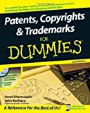 img - for Patents, Copyrights & Trademarks For Dummies 2nd (second) Edition by Charmasson, Henri J. A., Buchaca, John [2008] book / textbook / text book