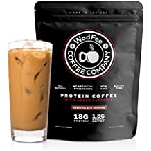WodFee Protein Coffee   All Natural Whey Protein Coffee With 18G Of Protein Per Serving   No Artificial Sweeteners, NON GMO and Gluten Free   Chocolate Mocha (37 Servings)