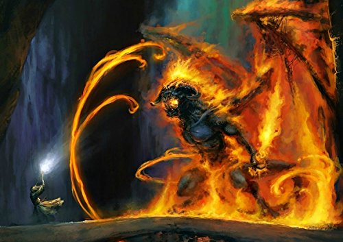 Poster BALROG GANDALF BATTLE 2 LORD OF THE RINGS SEIGNEURS DE ANNEAUX