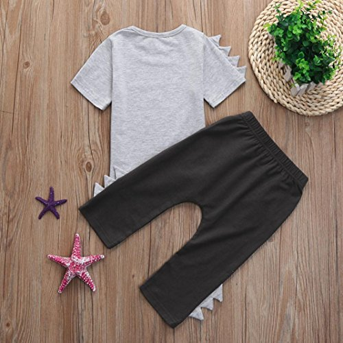 Iuhan Newborn Baby Boys Girls Bear Tops Romper Pants 3PCS Outfits Clothes