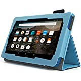 Case for All-New Fire HD 8 2017 - Premium Folio Case for All-New Fire HD 8 Tablet with Alexa 7th Generation (Blue)