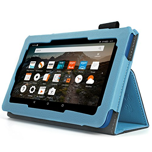 Case for All-New Fire HD 8 2017/2018 - Premium Folio Case for All-New Fire HD 8 Tablet with Alexa 7th / 8th Generation (Blue)