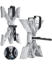 KKTECT X-Chock Wheel Stabilizer, RV Wheel Chock Stabilizers Locking Chock for Campers Travel Trailers Trucks with Integrated Wrench,Open 3.5 inches to 10 inches for RV, 2 Pack