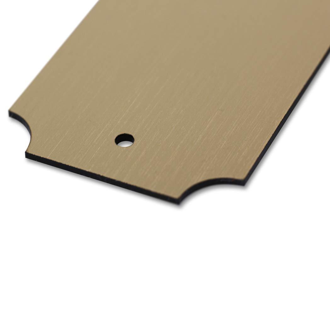 Namensschild Gravurschild Klingelschild eckig 125 x 45 mm T/ürschild mit individueller Gravur Kunststoffschild gold-metallic
