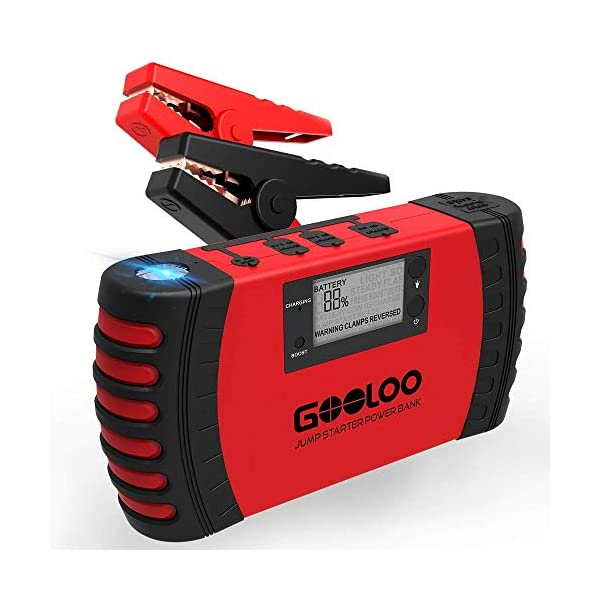 GOOLOO Upgraded Jump Starter with Quick Charge 3.0