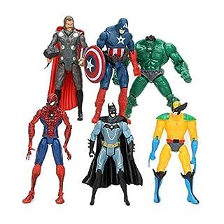 Jubasix Superhero Action Figures - 6 PCS Action Figure Set - PVC Figure Toy Dolls – Hero Cake Toppers