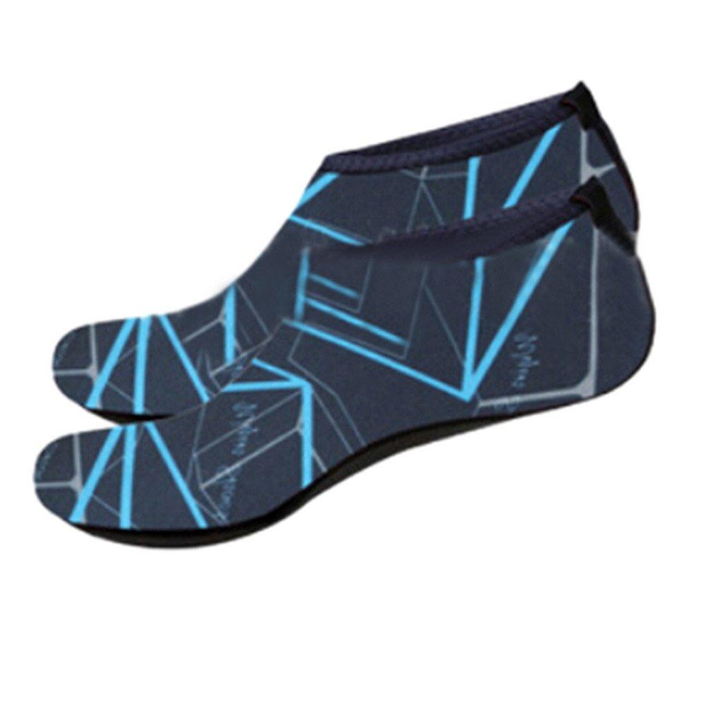 KESEELY Men Women Outdoor Water Sport Diving Swim Socks Yoga Soft Lighweight Beach Shoes Stretch Fabric Shoe Navy