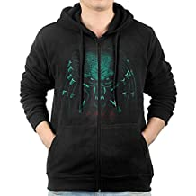Men Hunter Face Destiny Hunter Hoodie Sweatshirt Black