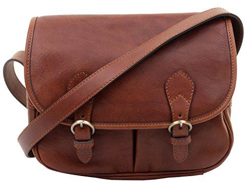 Include crossbody borsa borsetta in spalla Luxury italiano borsa pelle di Primo stile stoccaggio borsa Ladies marca Marrone sacchi® di qAx417