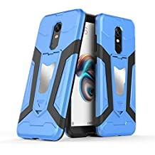 Xiaomi Redmi 5 Plus Case, Ranyi [3 Piece Full Body Armor] [Built-in Kickstand] [Shock Absorbing] Metal Texture Rugged Rubber 360 Protective 3 in 1 Case for Xiaomi Redmi 5 Plus (blue)
