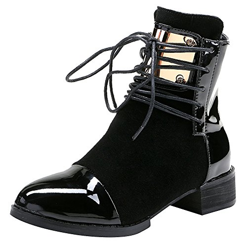 Black Biker Boots For Women - 8