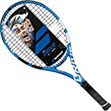 Babolat 2018 Pure Drive 26 Junior Black/Blue/White Tennis Racquet (4″ Grip), Strung with Black Tennis Racket String