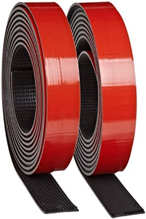 3M Dual Lock Reclosable Fastener TB3871/TB3872 400/170 Black, 1 in x 10 ft (1 Mated Strip/Bag)
