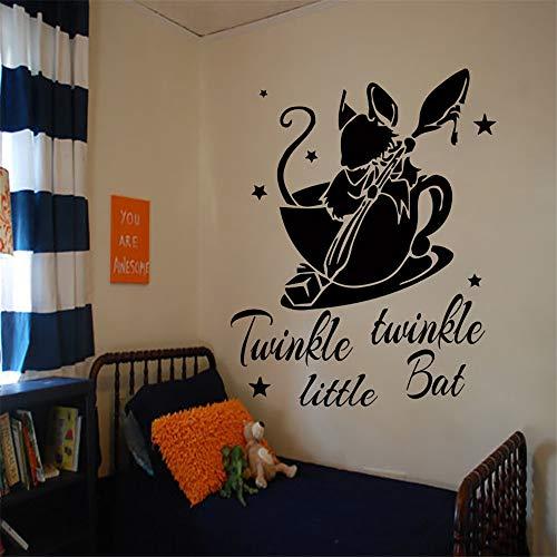 Quotes Wall Decals Alice in Wonderland Decal Vinyl Sticker Nursery Kids Bedroom -