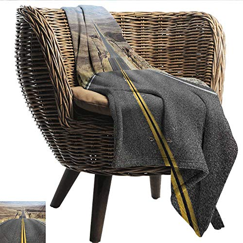 (EwaskyOnline Landscape Baby Blanket Pacific Coast Highway on The Road Trip to Endless Desert Western Photograph Wilderness Recliner Throw,Couch Throw, Couch wrap 80
